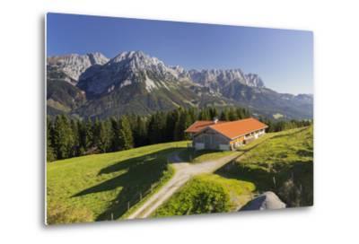 Farm, Wilder Kaiser, Scheffau, Tyrol, Austria-Rainer Mirau-Metal Print