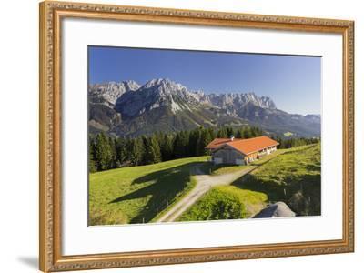 Farm, Wilder Kaiser, Scheffau, Tyrol, Austria-Rainer Mirau-Framed Photographic Print