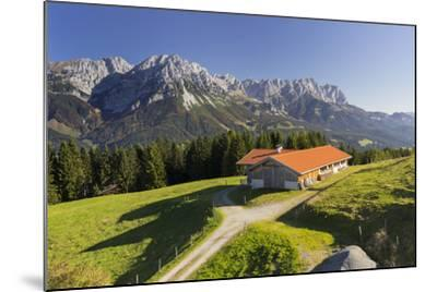 Farm, Wilder Kaiser, Scheffau, Tyrol, Austria-Rainer Mirau-Mounted Photographic Print