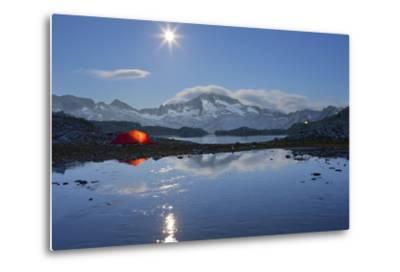 Austria, Carinthia, National Park High Tauern, Hochalmspitze (Mountain), Schwarzhornsee (Lake-Rainer Mirau-Metal Print