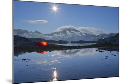 Austria, Carinthia, National Park High Tauern, Hochalmspitze (Mountain), Schwarzhornsee (Lake-Rainer Mirau-Mounted Photographic Print