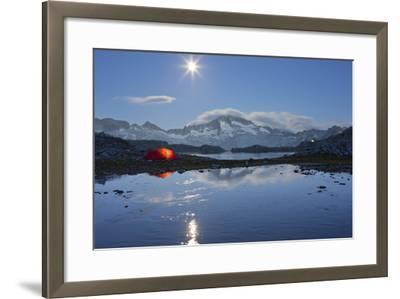 Austria, Carinthia, National Park High Tauern, Hochalmspitze (Mountain), Schwarzhornsee (Lake-Rainer Mirau-Framed Photographic Print
