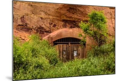 France, Provence, Vaucluse, Roussillon, Old Town, Rock Cave, Entrance Gate-Udo Siebig-Mounted Photographic Print