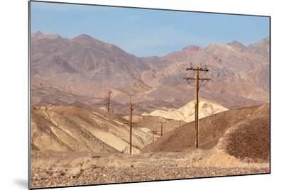 USA, Death Valley National Park, Power Poles-Catharina Lux-Mounted Photographic Print
