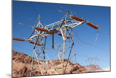 USA, Arizona and Nevada, Hoover Dam, Power Poles-Catharina Lux-Mounted Photographic Print