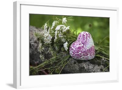 Heart, Flowers, Wild Chervil, Green-Andrea Haase-Framed Photographic Print