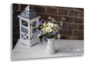 Bouquet, Summer Flowers, Lantern-Andrea Haase-Metal Print