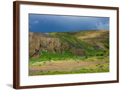 At the Hjalparfoss-Catharina Lux-Framed Photographic Print