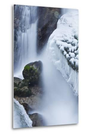 Austria, Lower Austria, MirafŠlle (Waterfall), Winter-Rainer Mirau-Metal Print