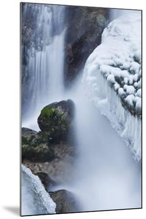 Austria, Lower Austria, MirafŠlle (Waterfall), Winter-Rainer Mirau-Mounted Photographic Print