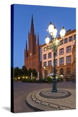 Europe, Germany, Hesse, Wiesbaden, Stone Mosaic-Chris Seba-Stretched Canvas Print