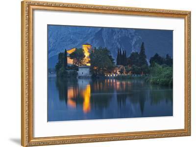 Castle of Toblino in the Lago Tu Santa Massenza, Trentino, Italy-Rainer Mirau-Framed Photographic Print