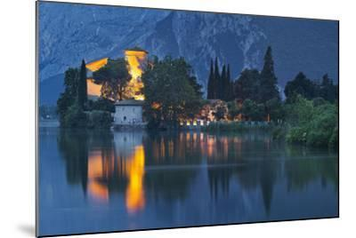 Castle of Toblino in the Lago Tu Santa Massenza, Trentino, Italy-Rainer Mirau-Mounted Photographic Print