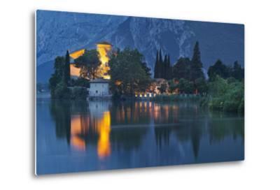 Castle of Toblino in the Lago Tu Santa Massenza, Trentino, Italy-Rainer Mirau-Metal Print