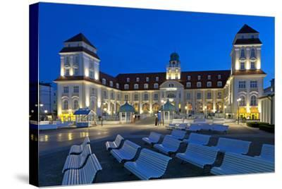 Europe, Germany, Mecklenburg-Western Pomerania, Baltic Sea Island R?gen, Binz, Kurhaus, Evening-Chris Seba-Stretched Canvas Print