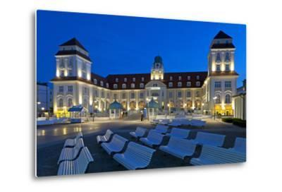 Europe, Germany, Mecklenburg-Western Pomerania, Baltic Sea Island R?gen, Binz, Kurhaus, Evening-Chris Seba-Metal Print