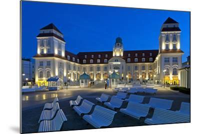 Europe, Germany, Mecklenburg-Western Pomerania, Baltic Sea Island R?gen, Binz, Kurhaus, Evening-Chris Seba-Mounted Photographic Print