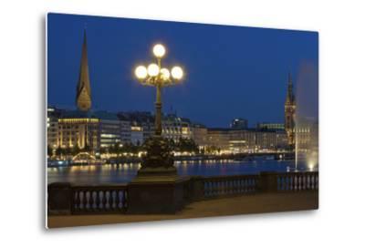Europe, Germany, Hamburg, the Inner Alster, Evening-Chris Seba-Metal Print