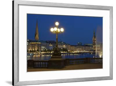 Europe, Germany, Hamburg, the Inner Alster, Evening-Chris Seba-Framed Photographic Print