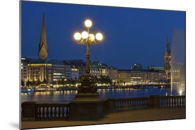 Europe, Germany, Hamburg, the Inner Alster, Evening-Chris Seba-Mounted Photographic Print