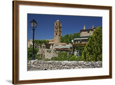 Europe, South of France, Provence, Verdon Gorges, Moustiers-Ste. Marie, Promenade, Townscape-Chris Seba-Framed Photographic Print