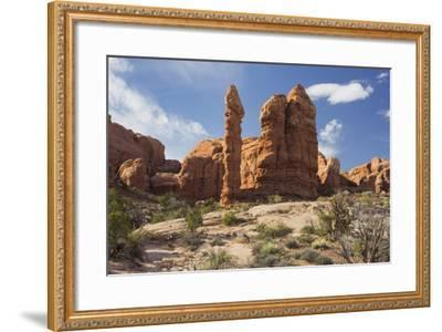 Sandstone Formations, Arches National Park, Moab, Utah, Usa-Rainer Mirau-Framed Photographic Print