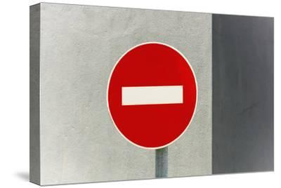 Sign, No Entry, One-Way Street-Catharina Lux-Stretched Canvas Print