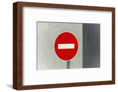 Sign, No Entry, One-Way Street-Catharina Lux-Framed Photographic Print