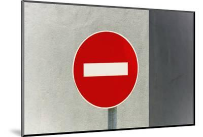 Sign, No Entry, One-Way Street-Catharina Lux-Mounted Photographic Print