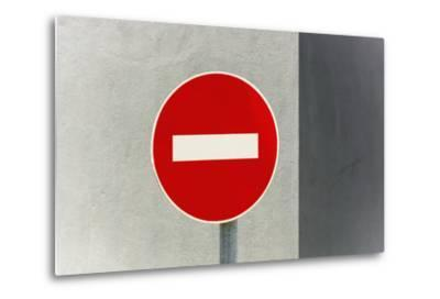 Sign, No Entry, One-Way Street-Catharina Lux-Metal Print