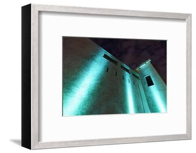 Al Hisn Fort, Museum, Illuminated, Sharjah Light Festival, Emirate of Sharjah-Axel Schmies-Framed Photographic Print