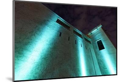 Al Hisn Fort, Museum, Illuminated, Sharjah Light Festival, Emirate of Sharjah-Axel Schmies-Mounted Photographic Print
