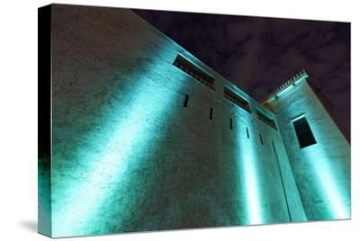 Al Hisn Fort, Museum, Illuminated, Sharjah Light Festival, Emirate of Sharjah-Axel Schmies-Stretched Canvas Print