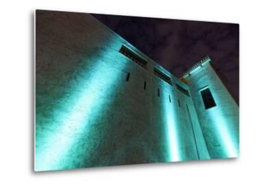 Al Hisn Fort, Museum, Illuminated, Sharjah Light Festival, Emirate of Sharjah-Axel Schmies-Metal Print