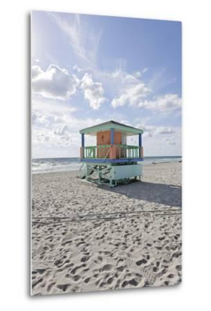 Beach Lifeguard Tower '14 St', Typical Art Deco Design, Miami South Beach-Axel Schmies-Metal Print