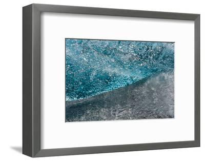 Atlantic Coast with Iceberg Remains at the J?kulsarlon-Catharina Lux-Framed Photographic Print