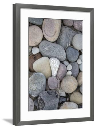 Painted Stone, Heart-Andrea Haase-Framed Photographic Print