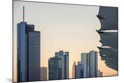 Germany, Hesse, Frankfurt Am Main, Frankfurt, Financial District, Sundown-Bernd Wittelsbach-Mounted Photographic Print