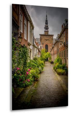 The Netherlands, Haarlem, Street, Lane-Ingo Boelter-Metal Print