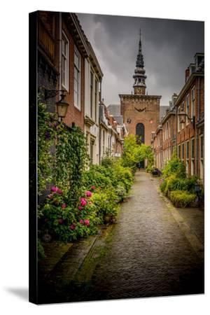 The Netherlands, Haarlem, Street, Lane-Ingo Boelter-Stretched Canvas Print