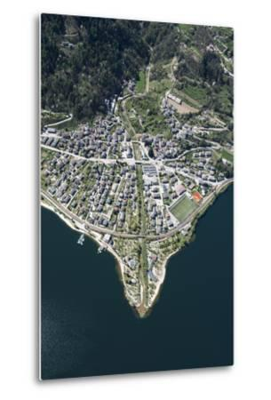 Lago Di Caldonazzo, Caldonazzo, River Delta, Mountain Lake, Swimming Lake-Frank Fleischmann-Metal Print