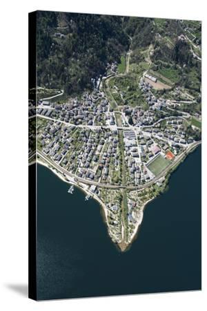 Lago Di Caldonazzo, Caldonazzo, River Delta, Mountain Lake, Swimming Lake-Frank Fleischmann-Stretched Canvas Print