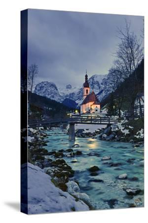 Church St Sebastian in Ramsau-Stefan Sassenrath-Stretched Canvas Print