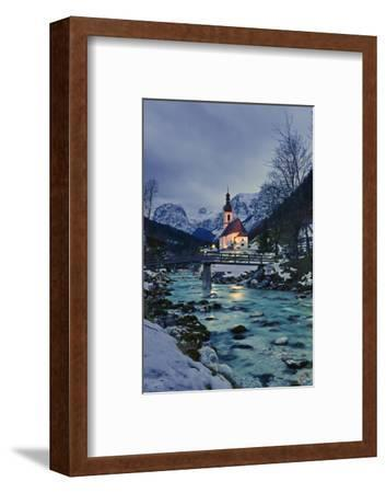 Church St Sebastian in Ramsau-Stefan Sassenrath-Framed Photographic Print