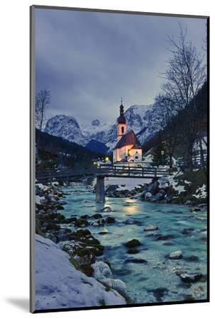 Church St Sebastian in Ramsau-Stefan Sassenrath-Mounted Photographic Print
