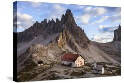 Europe, Italy, South Tyrol, the Dolomites, Tre Cime Di Lavaredo, Paternkofel, Dreizinnenh?tte-Gerhard Wild-Stretched Canvas Print