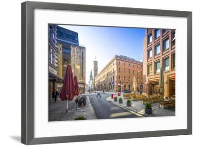 Germany, Hamburg, City Centre, Alster (River), Dike, Bleichenfleet, Alte Post-Ingo Boelter-Framed Photographic Print