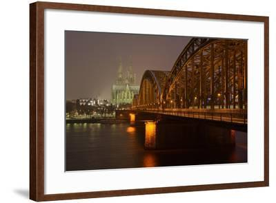 Germany, North Rhine-Westphalia, View from the Rhine from the Deutz Rhine Banks-Andreas Keil-Framed Photographic Print