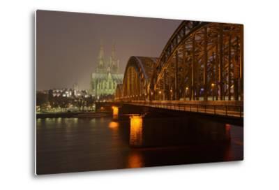 Germany, North Rhine-Westphalia, View from the Rhine from the Deutz Rhine Banks-Andreas Keil-Metal Print