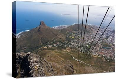 South Africa, Cape Town, View from the Table Mountain, Cableway-Catharina Lux-Stretched Canvas Print